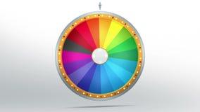 Fortuna da roda com espaço de 18 cores ilustração do vetor