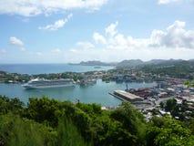 Fortuna de Morne, St Lucia imágenes de archivo libres de regalías
