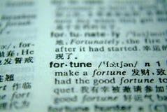 Fortuna del diccionario imagen de archivo libre de regalías