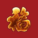 Fortuna frizzante del carattere cinese Fotografia Stock