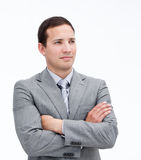Fortunate businessman with crossed arms Stock Photography