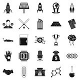 Fortunate icons set, simple style Stock Images
