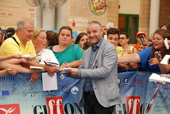 Fortunato Cerlino al Giffoni Film Festival 2015 Royaltyfri Fotografi