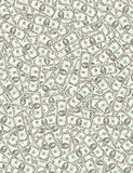 Fortune. Background created by using dollar banknotes Stock Photos