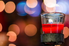 Fortune candle in glass cup Stock Photography