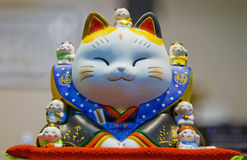 Fortune cat. Is an auspicious that bring in good business royalty free stock images