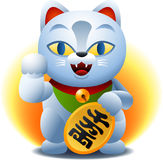 Fortune cat. Chinese fortune cat cartoon illustration Stock Images