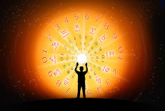 The fortune concept. Background of astrology and fortune concept Stock Images