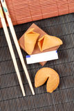 Fortune Cookie. Blank Fortune Note (Space for Text Stock Photo