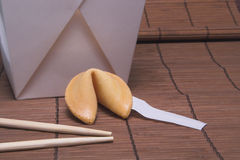 Fortune Cookie. A blank fortune cookie ready for your message Stock Image