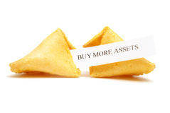 Fortune Cookie of Assets Royalty Free Stock Photo