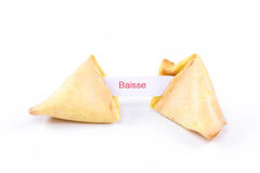 Fortune cookie - Baisse Royalty Free Stock Photo