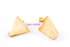 Fortune cookie - Bear Market Royalty Free Stock Photo