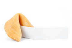 Fortune cookie with blank slip Royalty Free Stock Photos