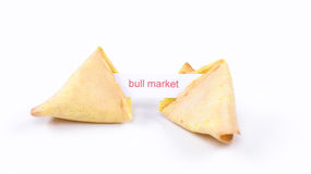 Fortune cookie - bull market Stock Images