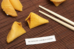 Fortune Cookie of Business Royalty Free Stock Photo