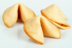 Fortune Cookie. S on bright background Stock Images