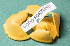 Fortune Cookie Good Fortune Royalty Free Stock Photography