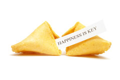 Fortune Cookie of Happiness Stock Photography