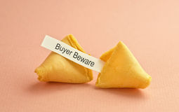 Fortune cookie message Stock Photos