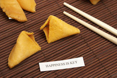 Fortune Cookie Of Happiness Stock Photo