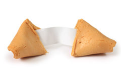 Fortune cookie opened Stock Photography