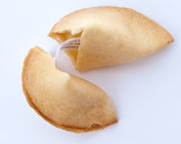 Fortune cookie revealed Stock Photo