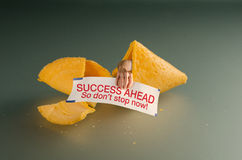 Fortune cookie success advice Stock Photos