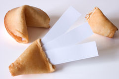 Fortune cookie - Triple luck at once Stock Photos
