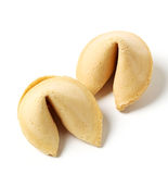 Fortune cookie. On a white background stock images