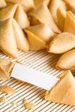 Fortune cookie your text Stock Photos