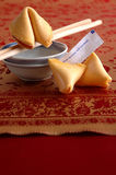 Fortune cookies. Fortune reads: your income will increase Stock Images
