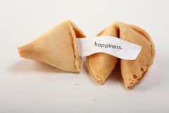 Fortune cookies. A couple of fortune cookies with a blanc white note Royalty Free Stock Images
