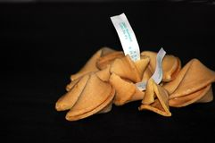 Fortune Cookies. Photographed fortune cookies Stock Images