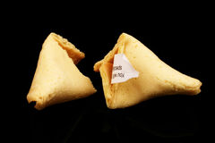 Fortune Cookies On Black Stock Photography