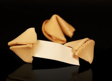 Fortune Cookies Blank Fortune Royalty Free Stock Photos