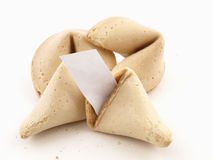 Fortune Cookies Blank Fortune Royalty Free Stock Images