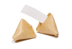 Fortune Cookies Blank Message Royalty Free Stock Photos
