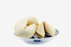 Fortune cookies in Chinese bowl Royalty Free Stock Photography