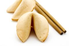 Fortune cookies & chopsticks Royalty Free Stock Photos