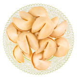 Fortune cookies on a plate Royalty Free Stock Photography