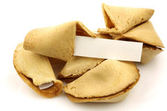 Fortune cookies with room for your text Royalty Free Stock Photo