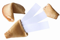Fortune cookies - Triple luck Stock Photos