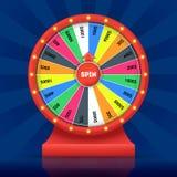 Fortune détaillée réaliste de chance de roue Vecteur illustration de vecteur