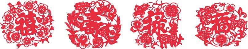 Fortune (Fu Lu Shou Xi) Stock Images