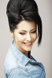 Fortune. Gladness. Happy Good-Looking Sincere Woman Smiling. Success Royalty Free Stock Images