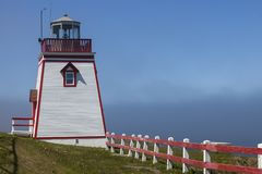 Fortune Head Lighthouse. Newfoundland and Labrador, Canada stock photos