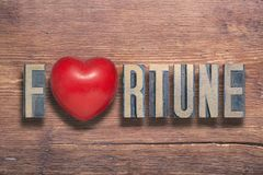 Fortune heart wooden Stock Photography