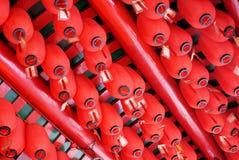 Fortune-lampes dans un temple de Taoist Image stock