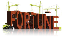 Fortune make money cash or credit good luck lucky Stock Image